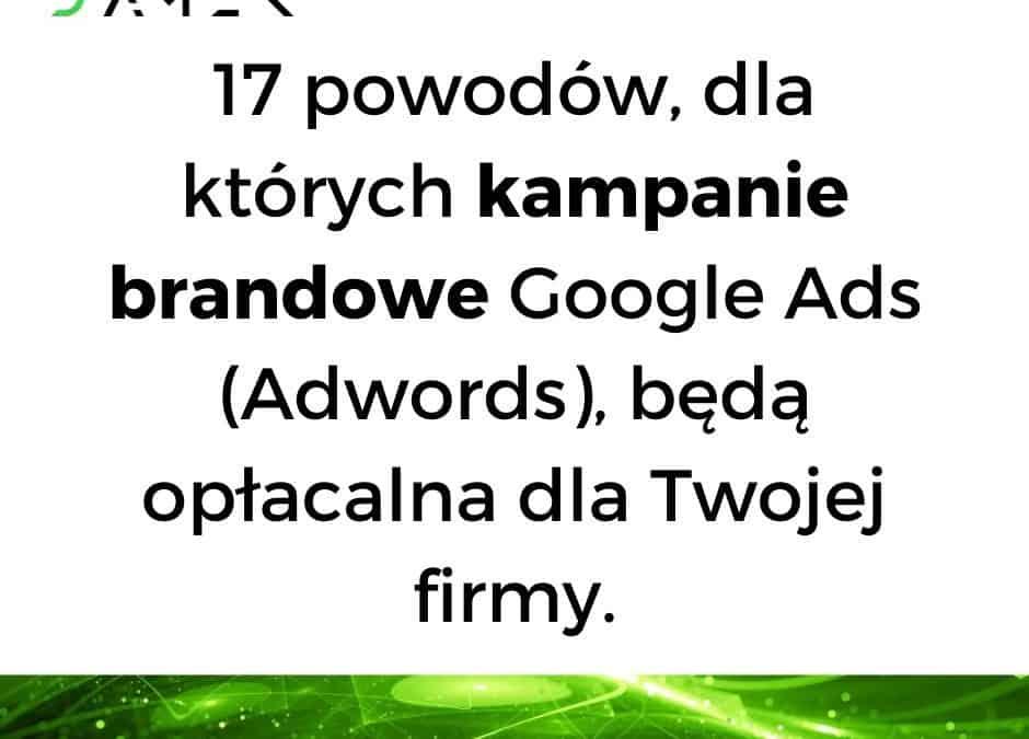 17 powodów, dla których kampanie brandowe Google Ads (Adwords), będą opłacalna dla Twojej firmy.