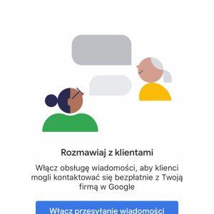Chat Google Moja Firma - Aktywacja