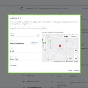 Google Moja Firma - Lokalizacja Firmy