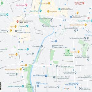 Wyszukiwanie w mapach Google