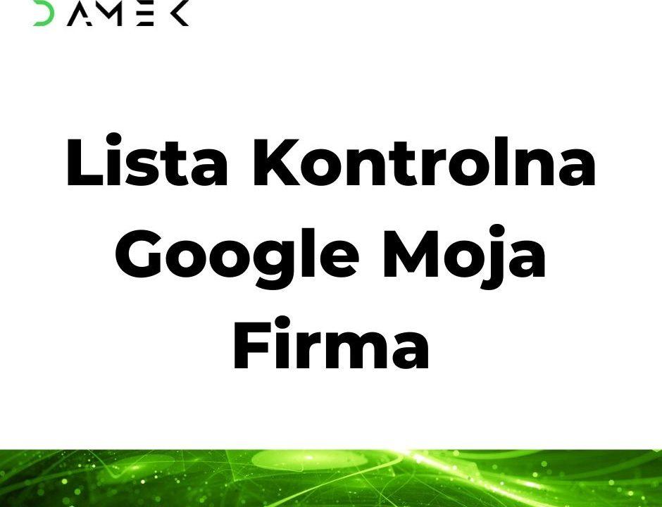 Lista Kontrolna Google Moja Firma