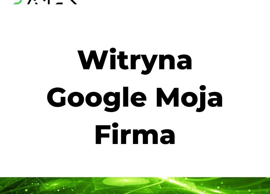 Witryna Google Moja Firma