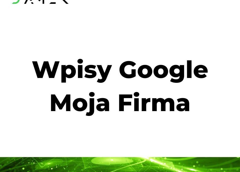 Wpisy Google Moja Firma
