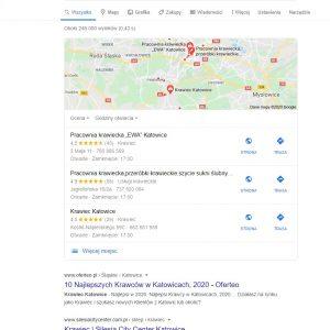 Przykładowe wyniki lokalnego wyszukiwania